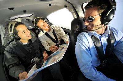 charter flight passengers and pilot